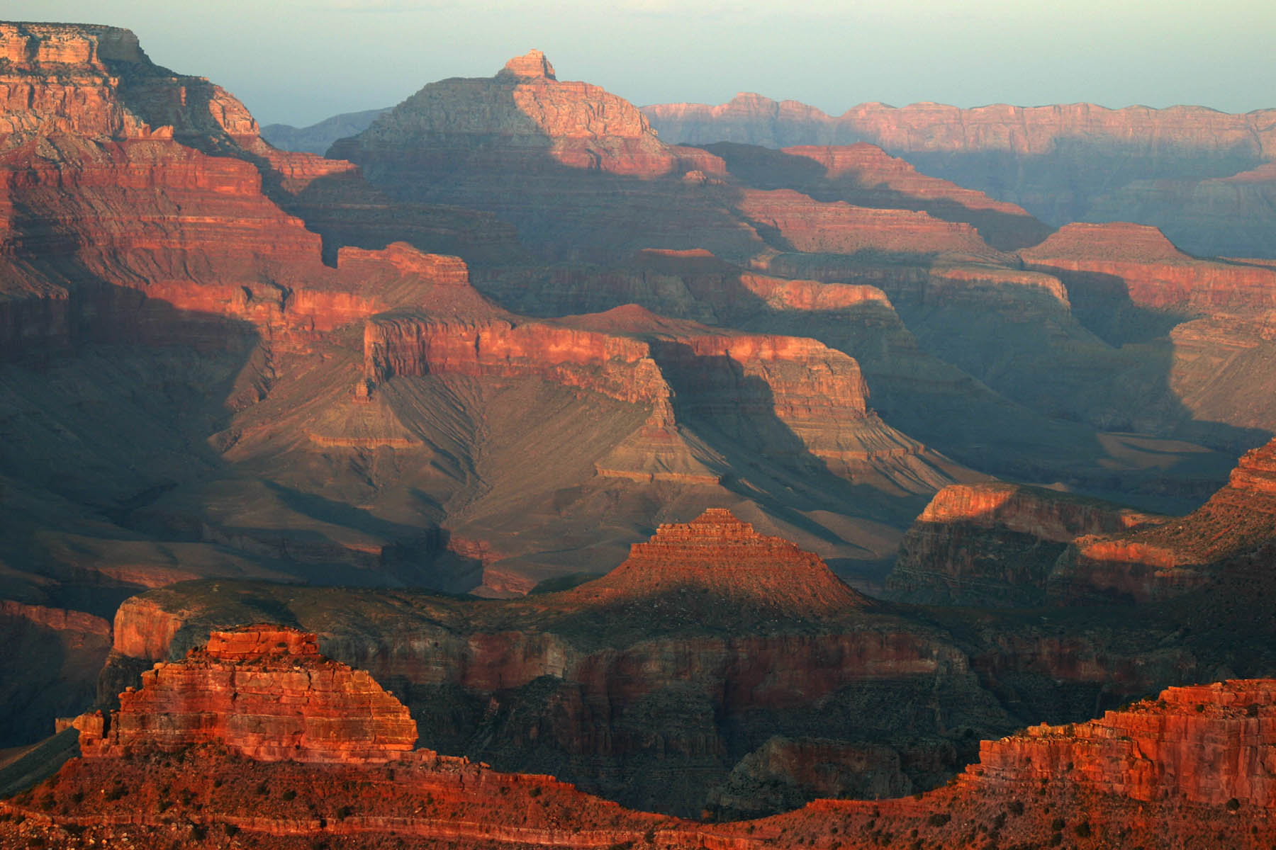 Sunset At Grand Canyon South Rim · View From South, Grand Canyon.