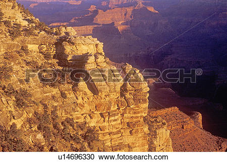 Stock Photography of South Rim of the Grand Canyon u14696330.