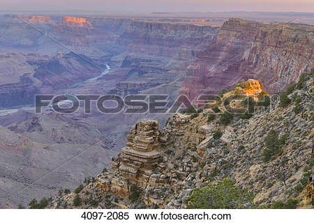 Stock Image of River passing through a canyon, Colorado River.