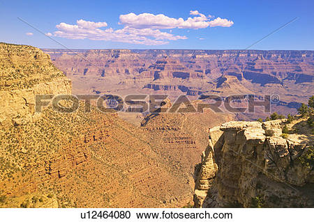 Stock Photography of Edge of South Rim of Grand Canyon National.