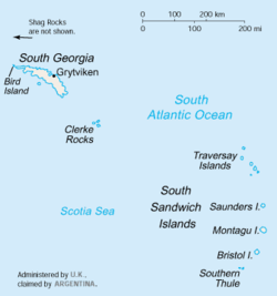 South Georgia and the South Sandwich Islands.
