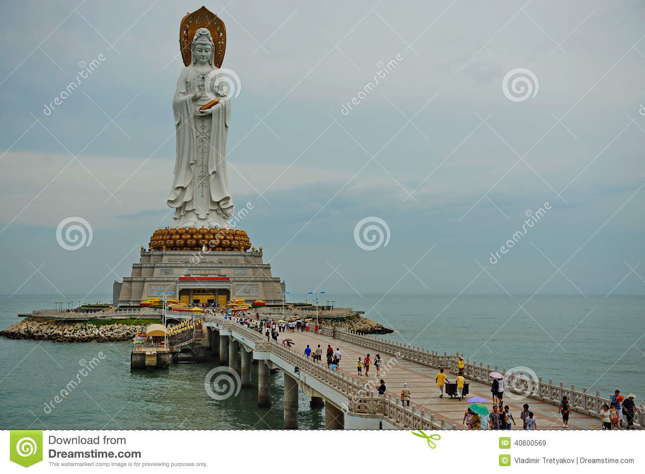 Guan Yin Of The South Sea Of Sanya Royalty Free Stock Images.