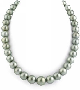 Black Tahitian South Sea Pearl Necklace.