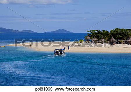 Stock Photo of South Sea Island Resort,Mamanucas, Fiji pbl81063.