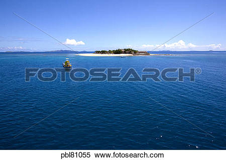 Stock Image of South Sea Island Resort,Mamanucas, Fiji pbl81055.
