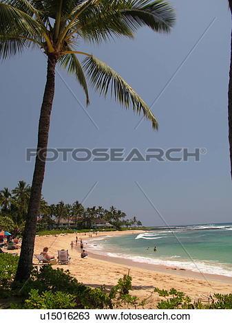 Stock Photo of Poipu, Kauai, HI, Hawaii, South Shore, Sheraton.