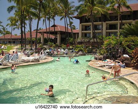 Stock Photography of Poipu, Kauai, HI, Hawaii, South Shore.