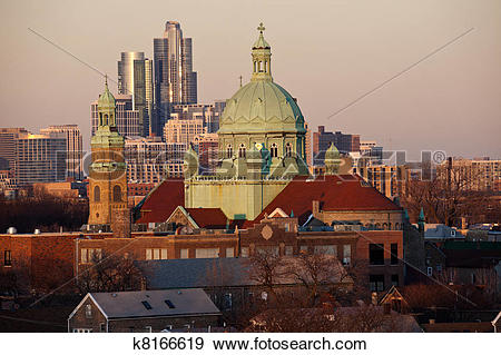Stock Photograph of South Side Chicago church k8166619.
