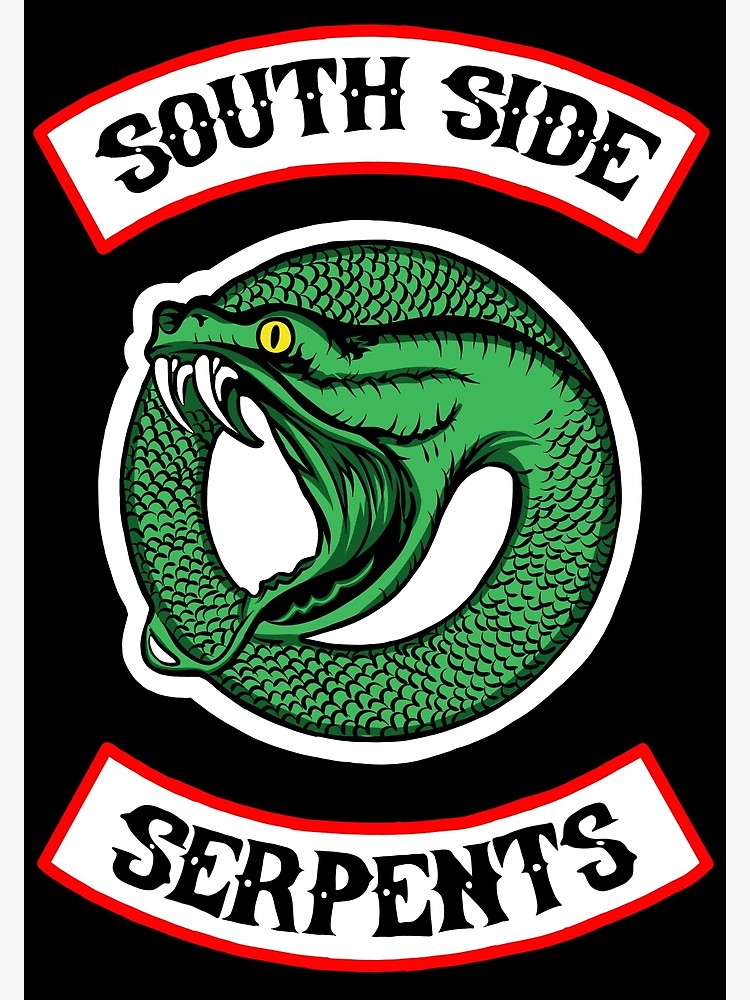 Riverdale Southside Serpents inspired ON THE BACK new round circle logo.