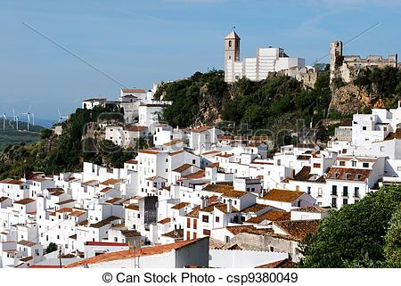 Stock Photographs of Pueblo blanco, Casares, Spain..
