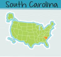 Fifty US States: South Carolina Clipart.