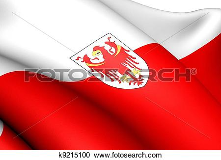 Stock Illustrations of Flag of South Tyrol, Italy. k9215100.