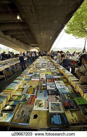 Stock Photo of England, London, South Bank. Secondhand books for.