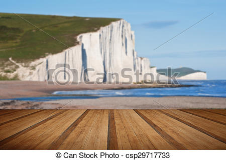 Stock Photos of Sven Sisters Cliffs South Downs England landscape.