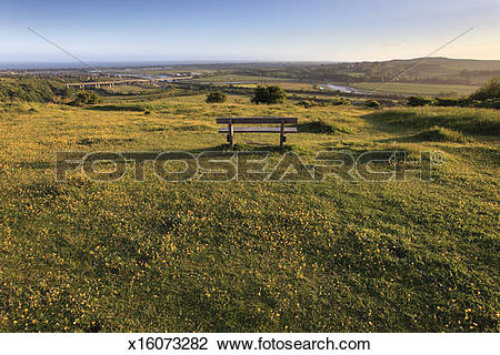 Stock Photo of River Adur valley , South Downs x16073282.