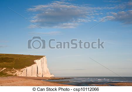 Stock Image of Sven Sisters Cliffs South Downs England landscape.