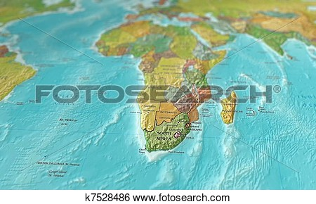 Clipart map of southern africa.