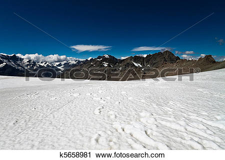 Stock Photography of Southern Alps New Zealand k5658981.