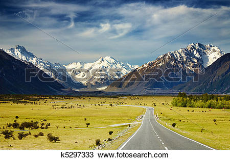 Stock Photo of Southern Alps, New Zealand k5297333.
