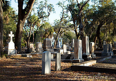 Old Southern Cemetery Stock Images.