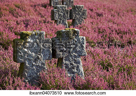 """Stock Photography of """"Stone crosses on a military cemetery."""