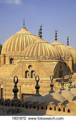 Stock Photo of Rooftop Domes, Haush Al.
