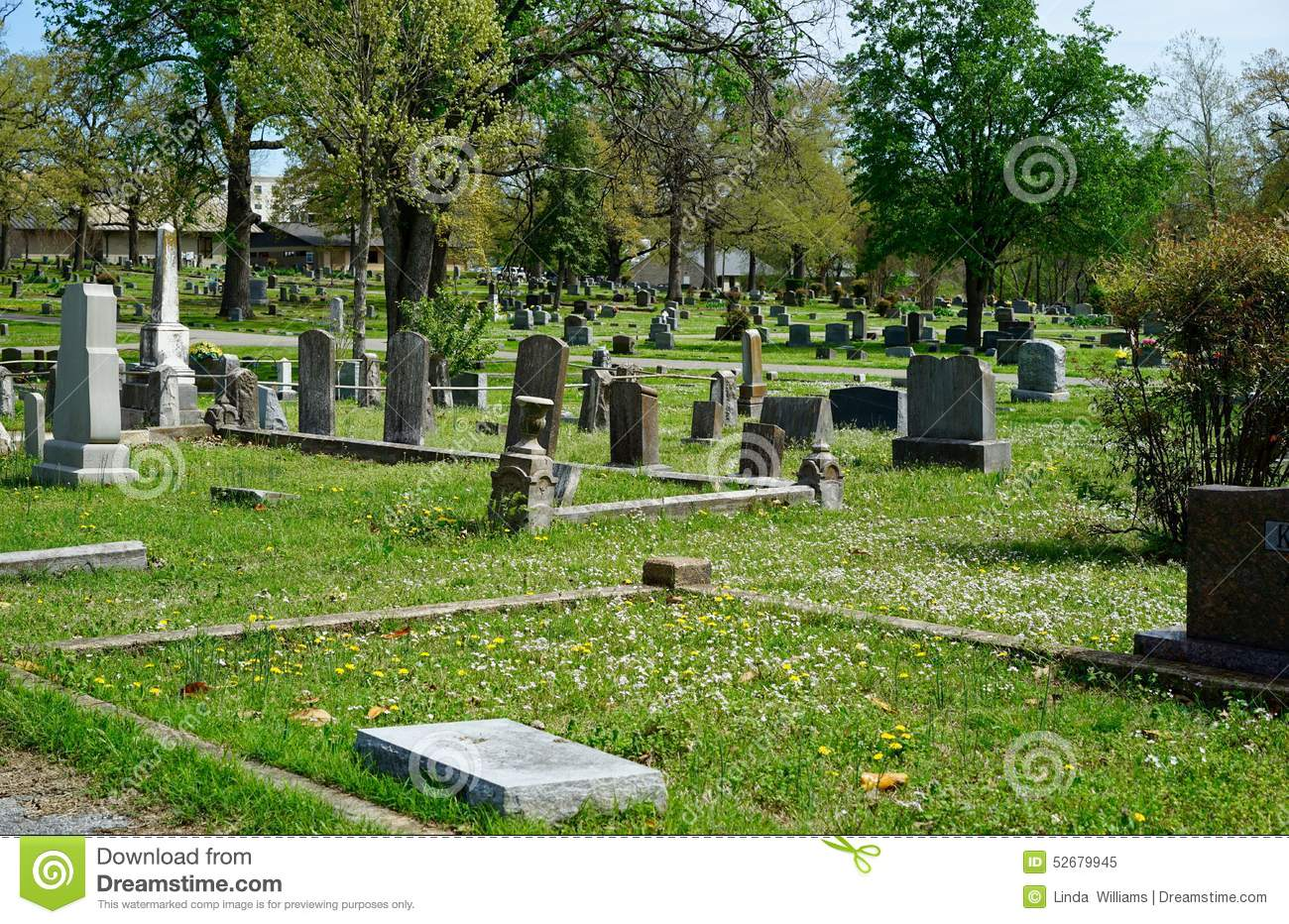 Old Southern Cemetery In America Stock Photo.