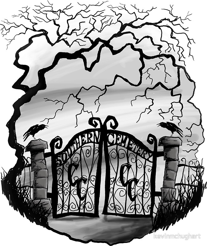 """Southern Cemetery"""" Stickers by kevinmchughart."""