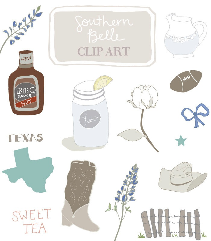 Simple Southern Clip Art.