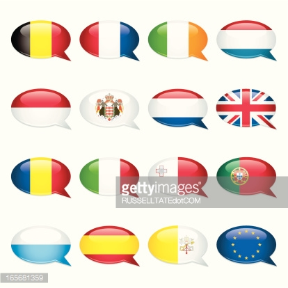 Western And Southern Europe Rectangular Flags Vector Art.