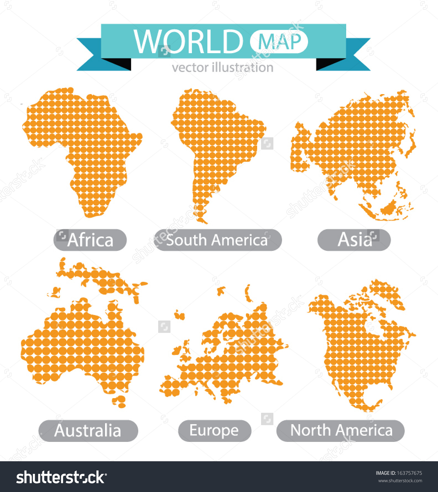Southern europe clipart clipground africa asia australia europe north america stock vector 163757675 europe north america south america world map gumiabroncs Choice Image