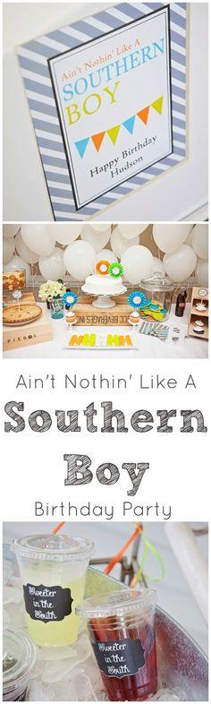Southern Gentleman Baby Shower Invitation.
