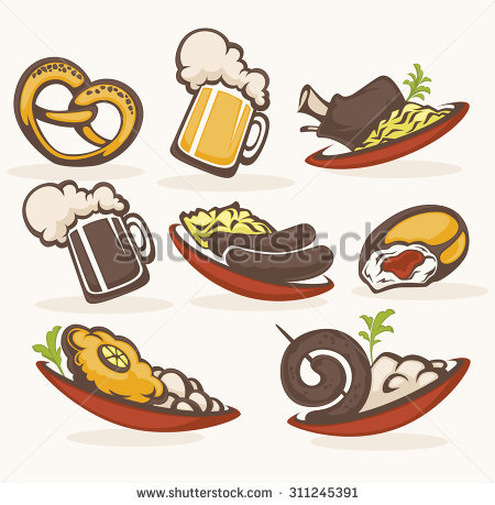 German Food Stock Images, Royalty.
