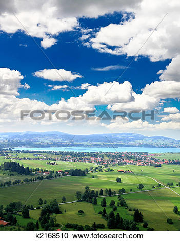 Stock Photography of the countryside of southern Germany k2168510.