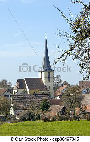 Stock Photo of rural village in Southern Germany.