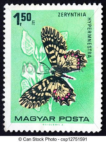 Stock Photographs of Postage stamp Hungary 1966 The Southern.