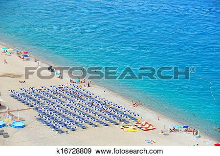 Stock Photograph of Beautiful beach in Scilla, southern Italy.