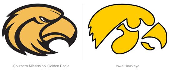 brandchannel: Logo Showdown: Iowa Hawkeyes Clips Southern.