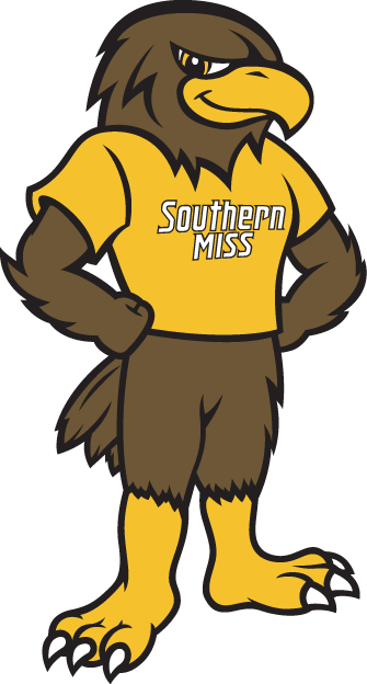 Southern Miss Golden Eagles Mascot Logo (2003).