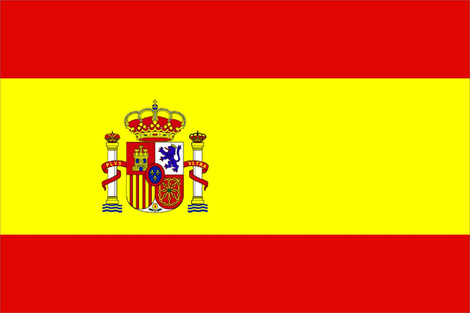 Flag of spain clipart.