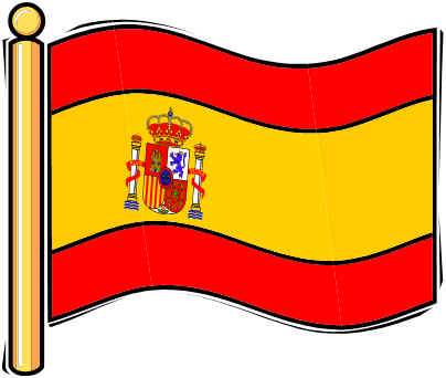 Clipart spain flag with fireworks.