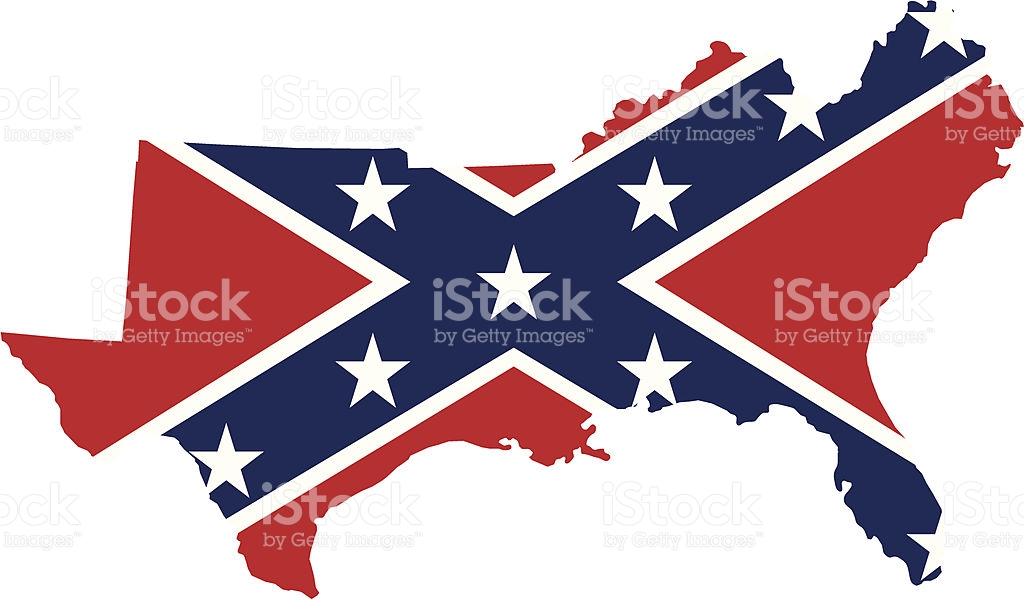 Confederate Flag Over Southern States stock vector art 455478059.