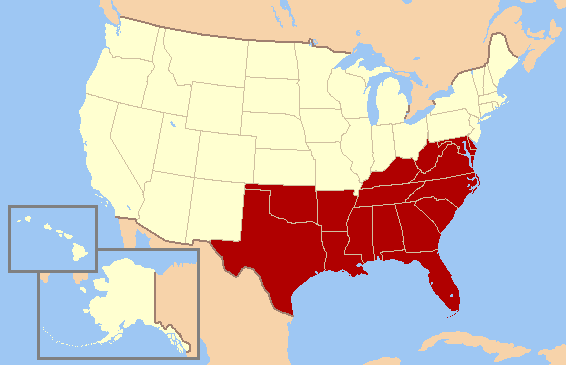 Picture Of The Southern Colonies.