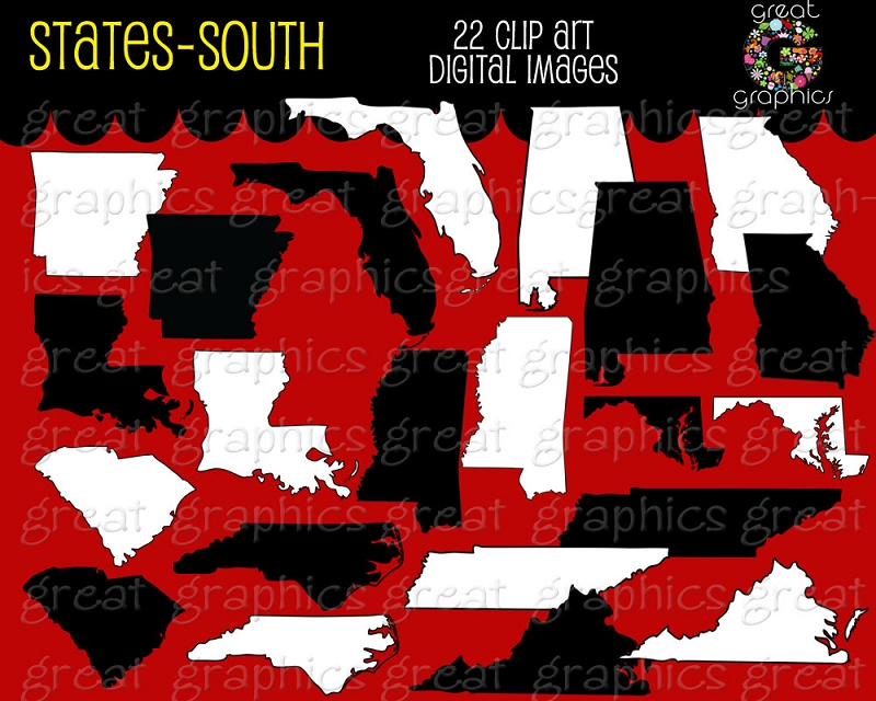Southern states clipart.