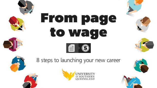 From page to wage: 8 steps to launch your career.
