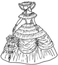 authentic southern belle dresses drawings.
