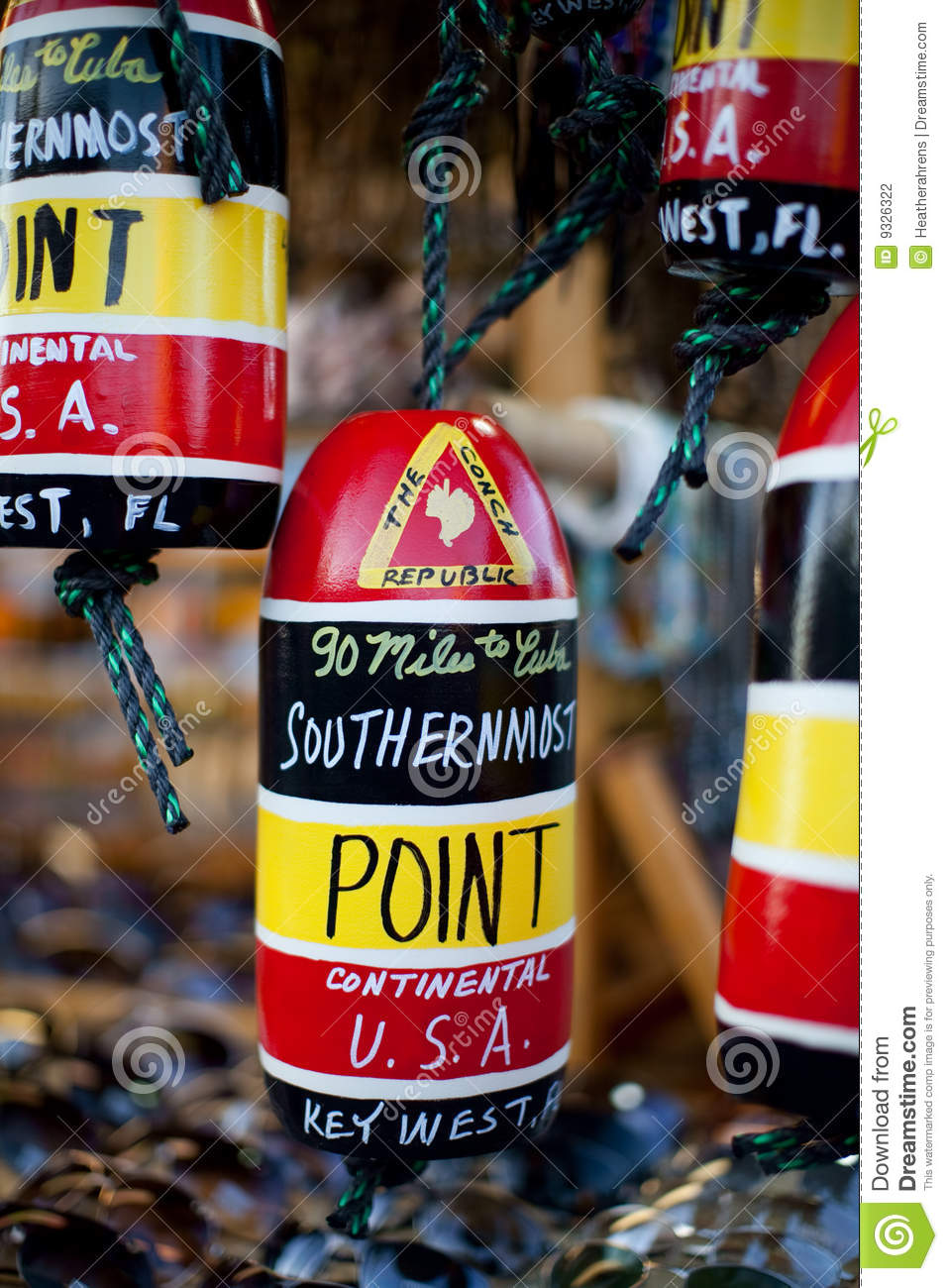 Key West Southernmost Point Souvenir Stock Photography.