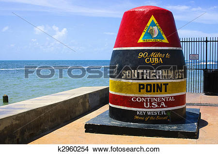 Stock Photo of Southernmost point in continental USA in key west.