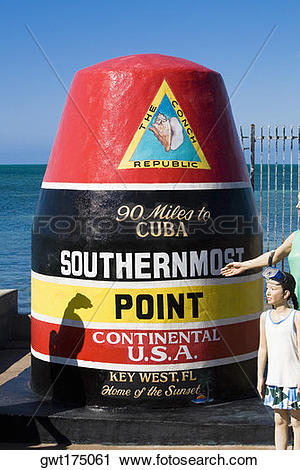 Stock Photography of Structure marking the southernmost point of.
