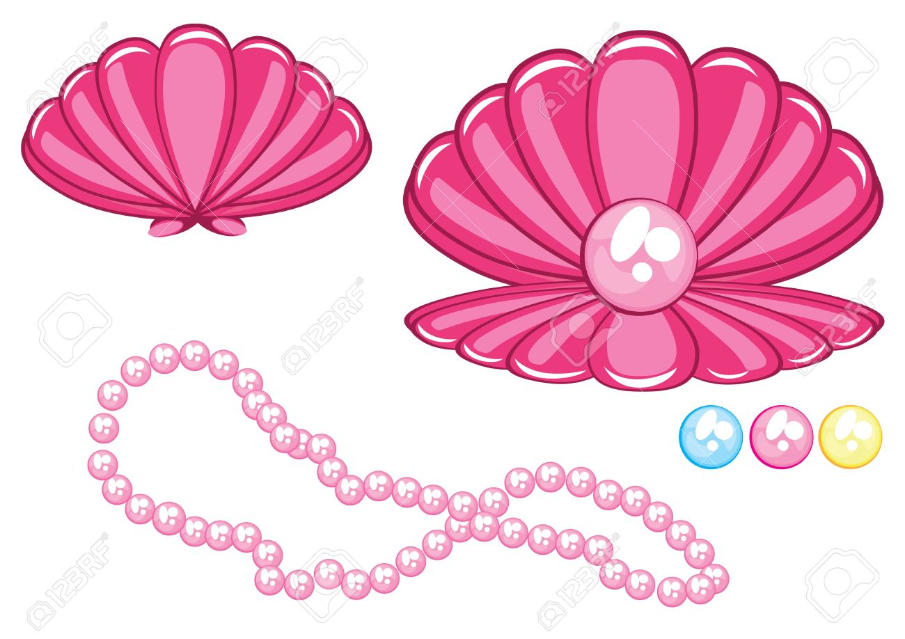 clipart of pearl necklace.